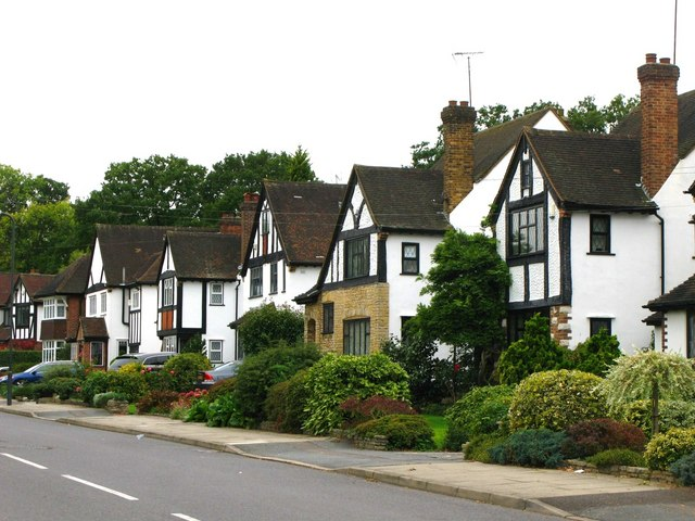 Mock Tudorbethan houses, Great Thrift, BR5
