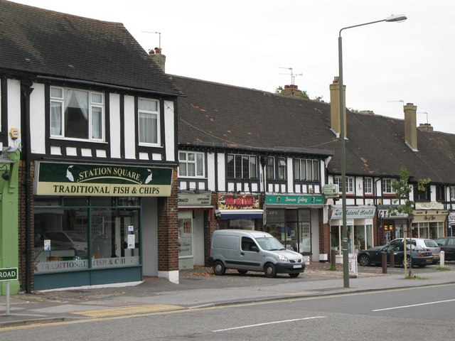 Mock Tudorbethan shops and flats, Petts Wood Road, BR5