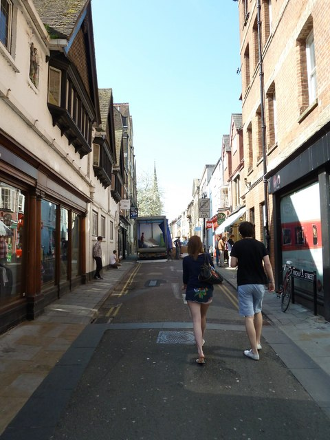 Looking westwards in St. Michael's Street