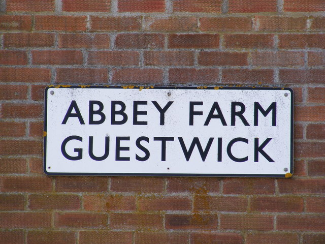 Abbey Farm,  name sign