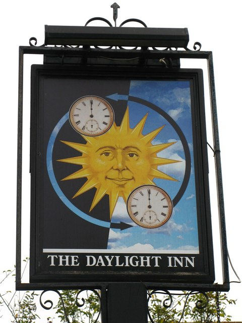 Second sign for The Daylight Inn, Station Square, Petts Wood, BR5