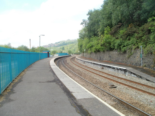 Trehafod railway station viewed from the SE