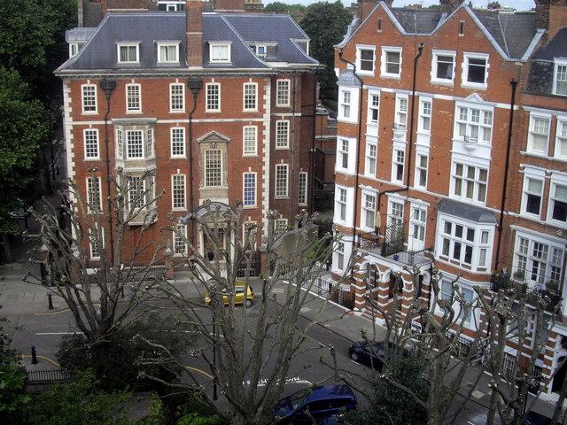 Mansion blocks in Embankment Gardens, Chelsea