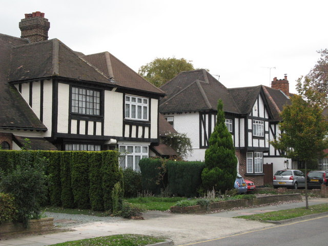 Mock Tudorbethan houses, West Way, BR5