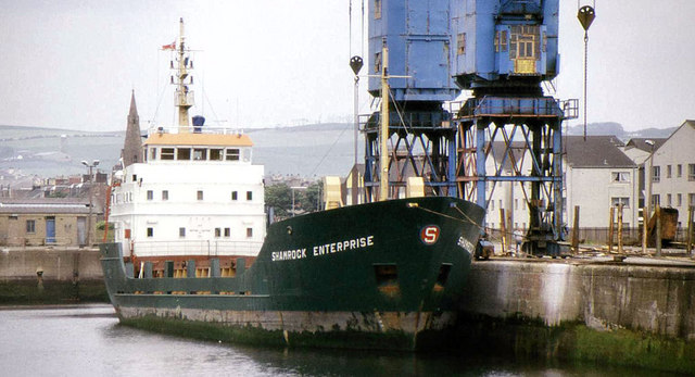"The ""Shamrock Enterprise"" at Ardrossan"