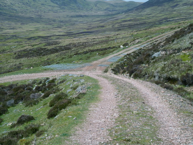 Junction of tracks below Meall Reamhar