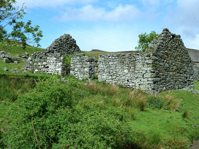 Ruined cottage at Wester Glentarken