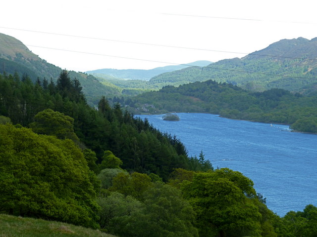 View of St Fillans from Wester Glentarken