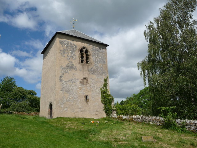 The detached bell tower of the church of St. Bartholomew, Richard's Castle
