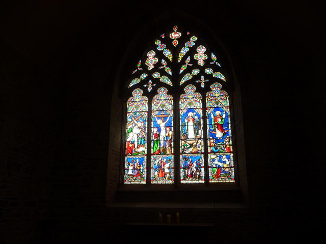 The east window, the church of St. Bartholomew, Richard's Castle