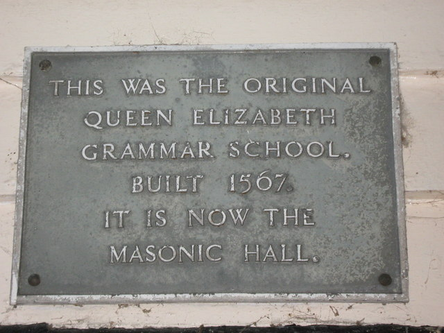 Plaque on Masonic Hall