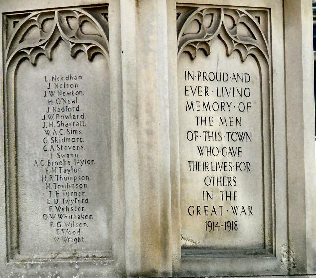 Bakewell War Memorial (details)