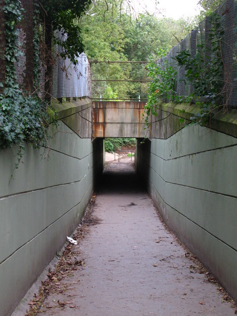 Pedestrian tunnel under the railway east of St. Mary Cray Junction