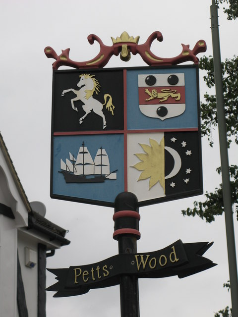"Petts Wood ""village"" sign"