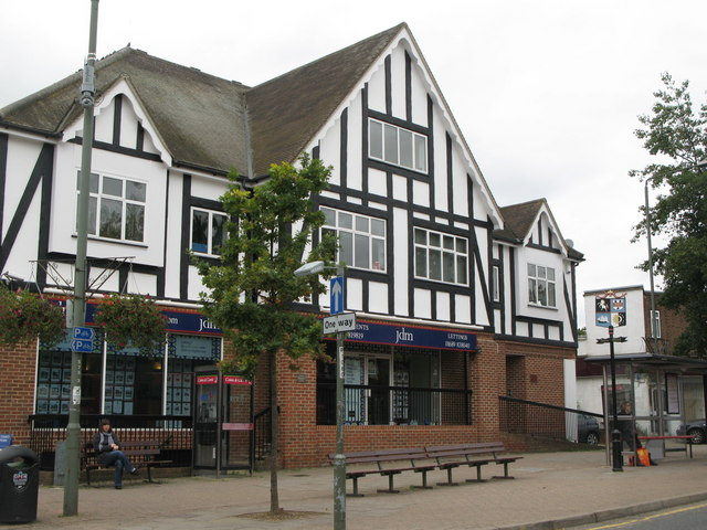 Mock Tudorbethan estate agents, Station Square, Petts Wood, BR5