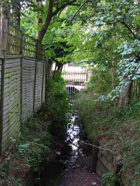 The Kyd Brook - Main Branch, south of Eynsford Close, BR5 (7)
