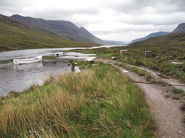 End of the track to Loch na Sealga