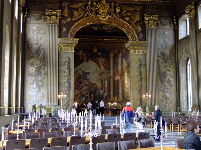 The Painted Hall. the Old Royal Naval College, Greenwich