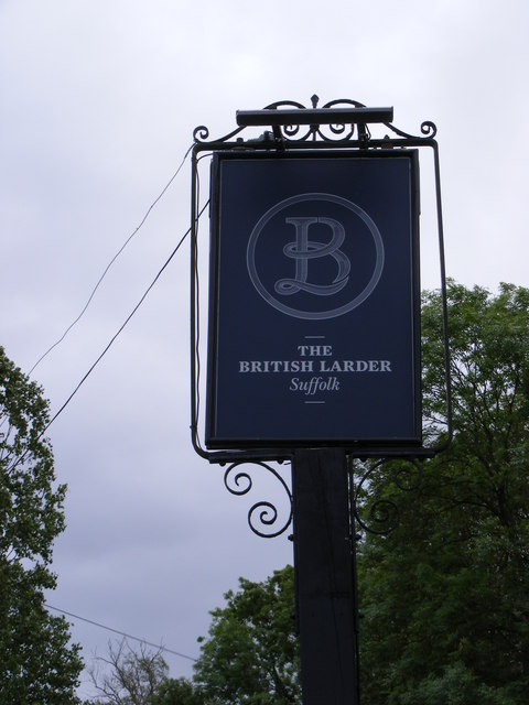 The British Larder Public House Sign