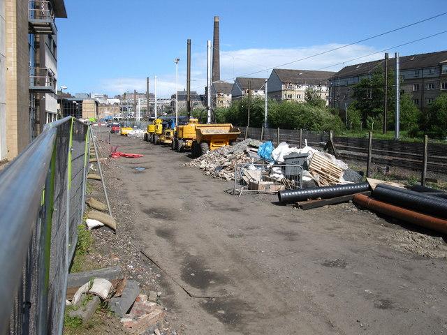 Edinburgh Tramway under construction