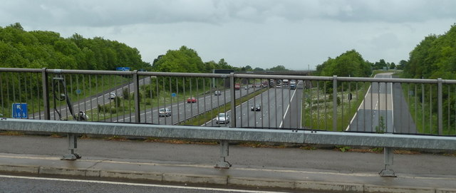 M1 and slip roads for junction 30