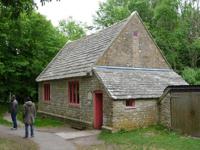 Tyneham: the schoolroom