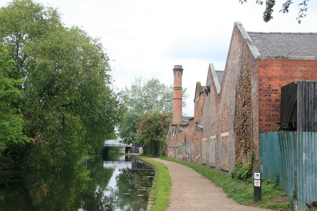 Canal towpath and chimney