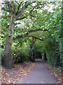TQ4466 : Footpath south of Shepperton Road, BR5 by Mike Quinn