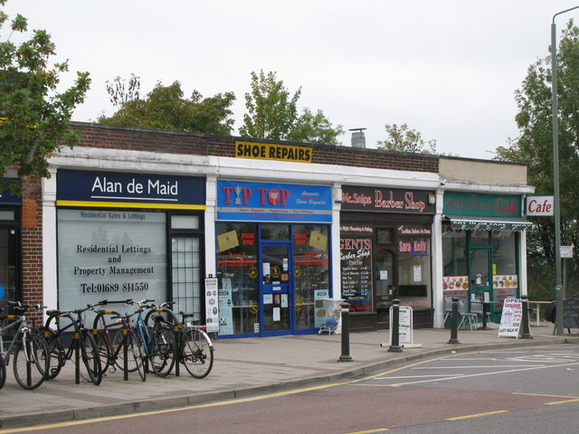 Parade of shops west of Petts Wood railway station