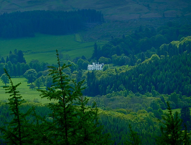 Aberuchill Castle from the slopes of  Crappich Hill