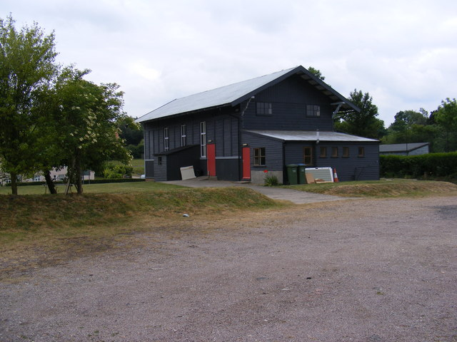The rear of Peasenhall Village Hall