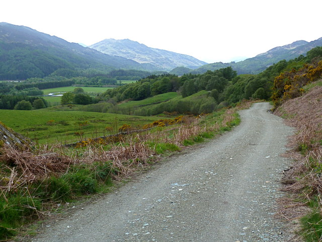 The view westwards down the Maam Road