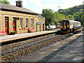 SD9324 : Todmorden Railway Station by David Dixon