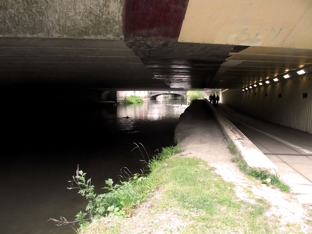 Under the road