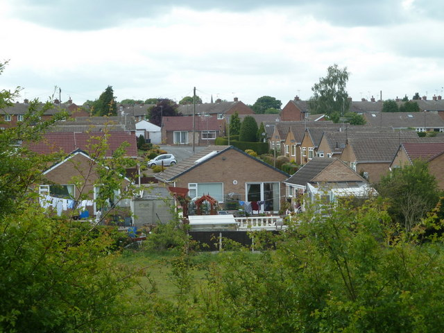 Danesmoor housing estate from footpath to the east