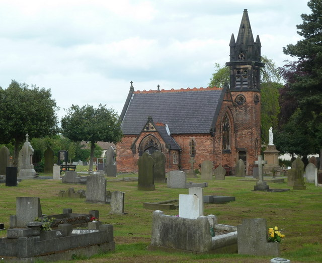 Cemetery and chapel by Cemetery Road