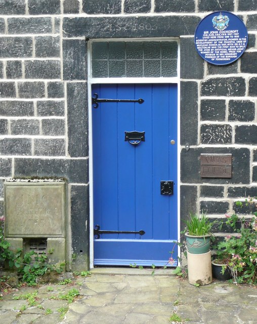 Doorway to Birks House and Blue Plaque