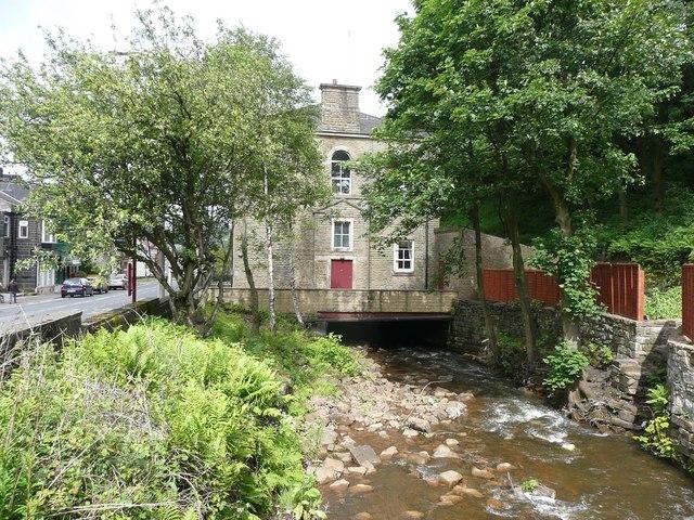 Culvert under former Shade Wesleyan Chapel, Rochdale Road, Todmorden