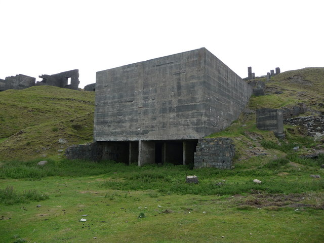 Old Concrete Buildings : Old concrete quarry buildings below jeremy bolwell cc