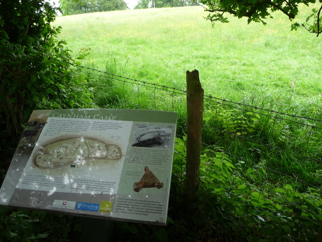 Interpretation board at Caynham Camp