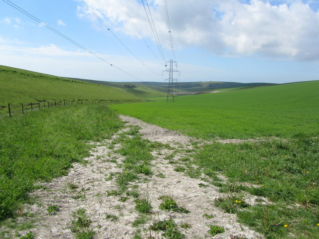 Pylons below Perching Hill