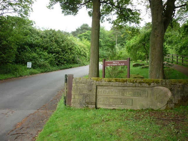 The entrance to Heatherdene car park