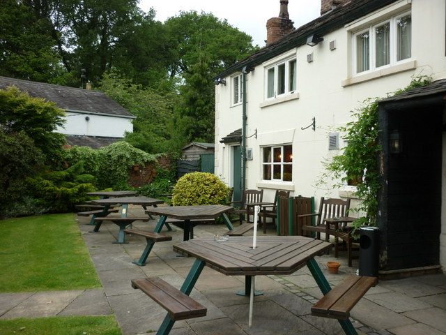 The beer garden at the Bird in Hand, a Sam Smith's pub