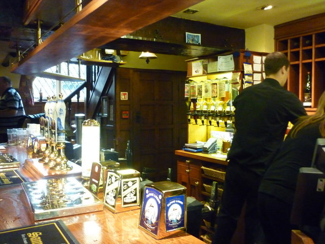 The bar at the Whipping Stocks, a Sam Smith's pub