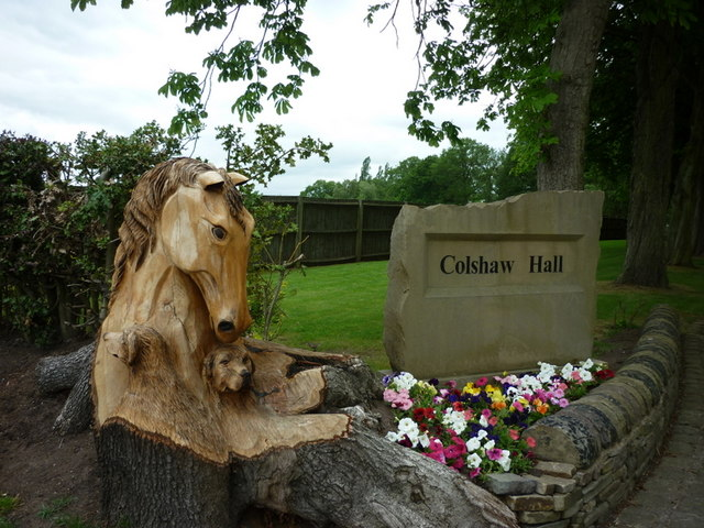 The sign for Colshaw Hall, Over Peover