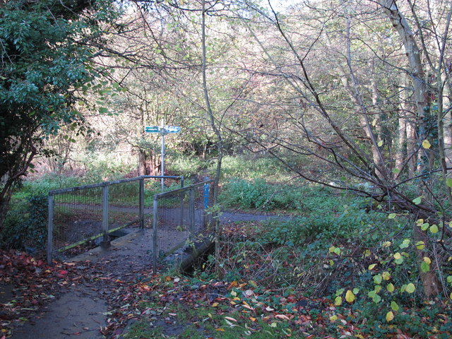 Footbridge over the Kyd Brook - East Branch, west of Sparrow Drive, BR5 (2)
