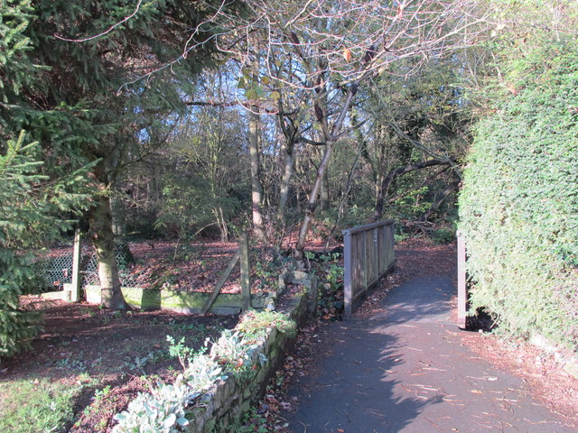 Footbridge over the Kyd Brook - East Branch, west of St. Thomas' Drive, BR5 (2)