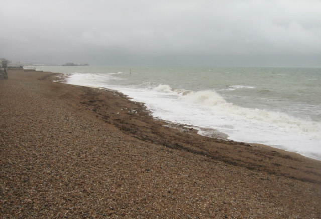 Grey day on Hove beach