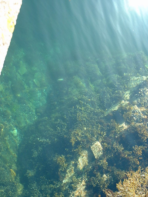 Clear water beside Toscaig Pier