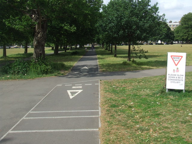 Cycle path on Clapham Common